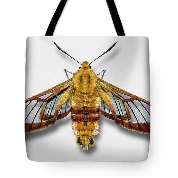 Broad-bordered Bee Hawk Moth Butterfly - Hemaris Fuciformis Naturalistic Painting -nettersheim Eifel Tote Bag