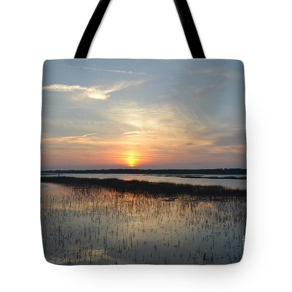 Tote Bag featuring the photograph Broad Creek Sunset II by Carol  Bradley