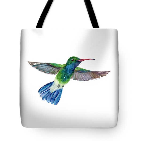 Broadbilled Fan Tail Hummingbird Tote Bag by Amy Kirkpatrick