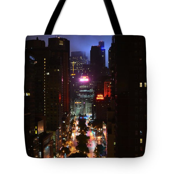 Broadway And 72nd Street At Night Tote Bag