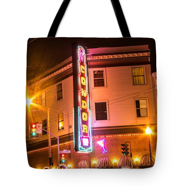 Broadway At Night Tote Bag by Suzanne Luft
