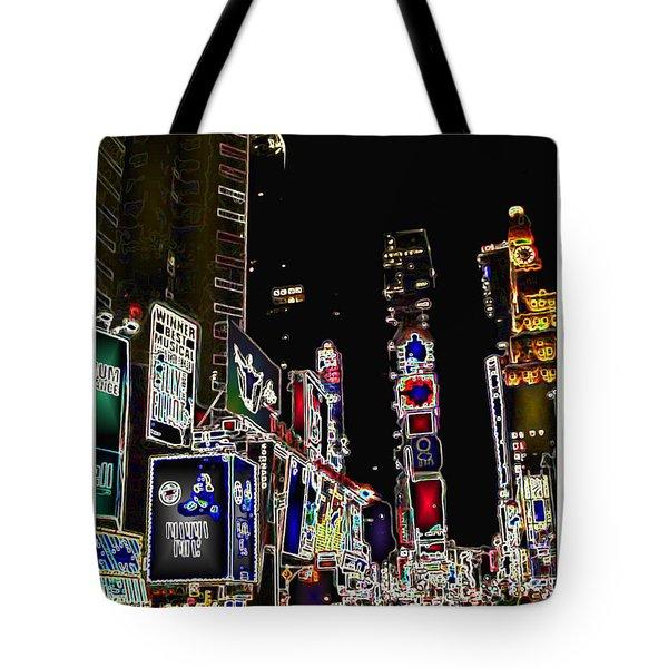 Broadway Tote Bag by Joan  Minchak
