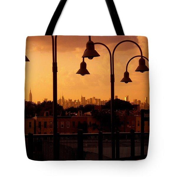 Broadway Junction In Brooklyn, New York Tote Bag