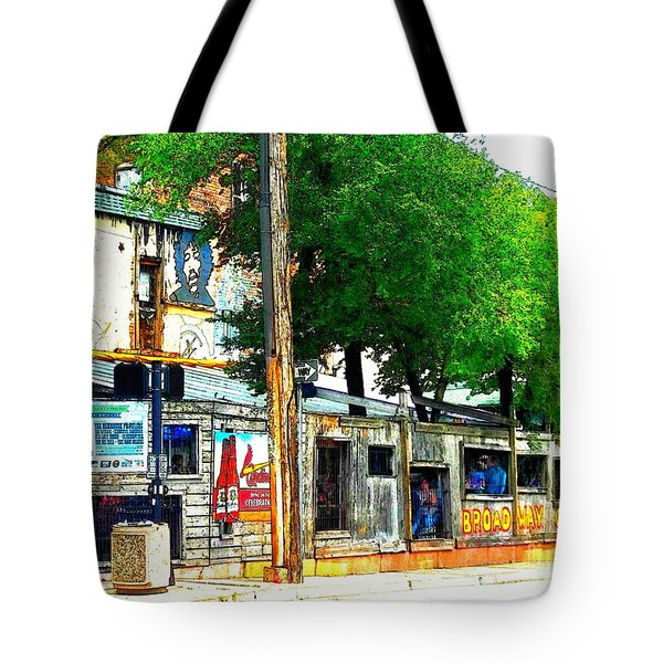 Broadway Oyster Bar With A Boost Tote Bag by Kelly Awad