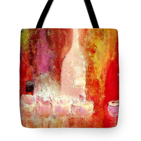 Tote Bag featuring the painting Broadway Wine Chorus  by Lisa Kaiser