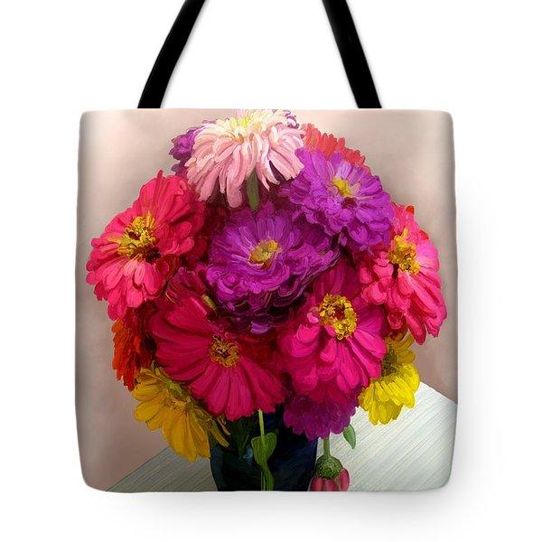 Broken Blooms Tote Bag