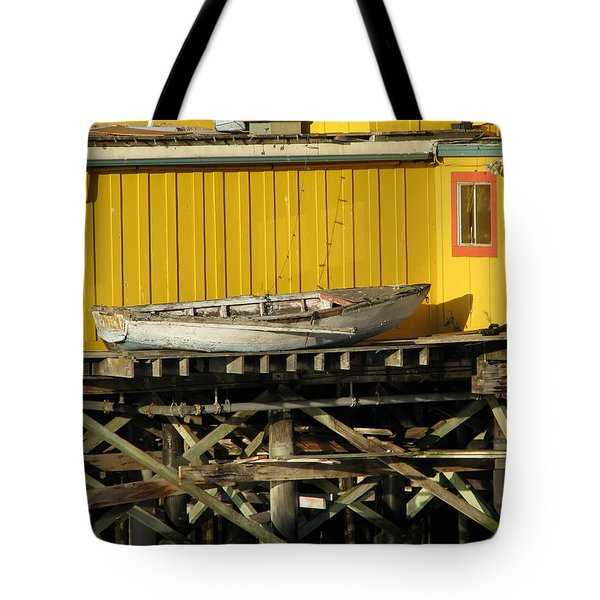 Tote Bag featuring the photograph Broken Boat Fisherman's Wharf by James B Toy