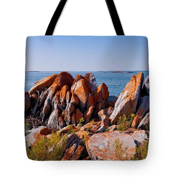 Broken Boulders Tote Bag by Les Palenik