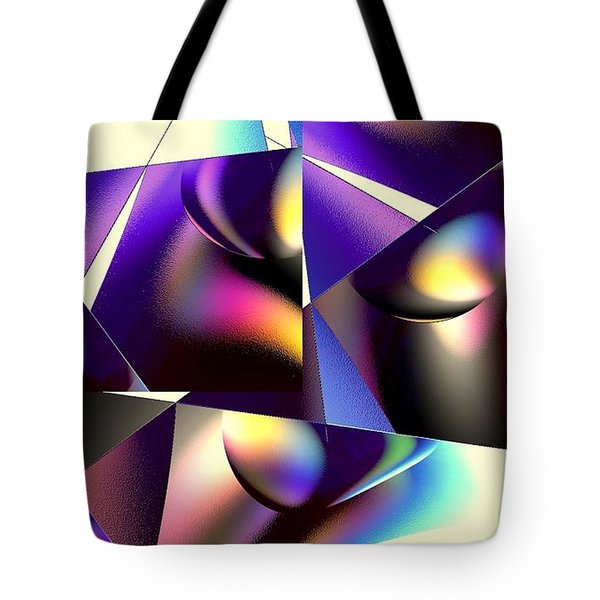 Tote Bag featuring the digital art Broken Glass by Greg Moores