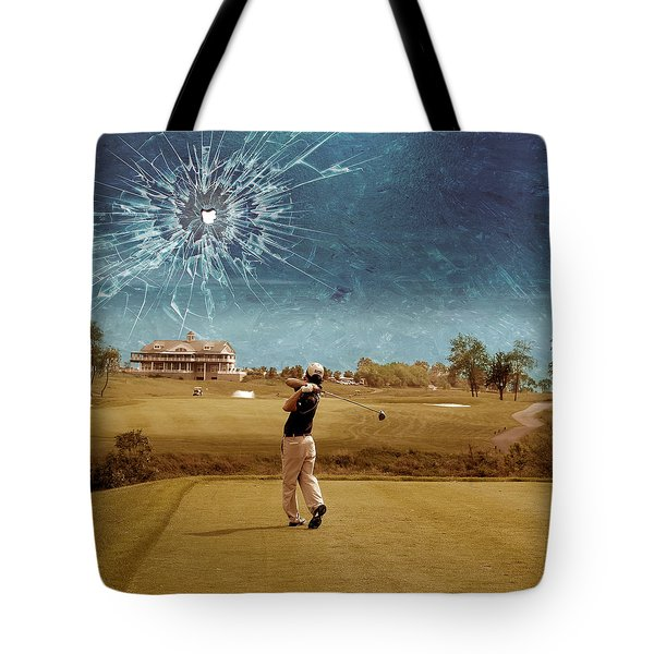 Broken Glass Sky Tote Bag by Marian Voicu