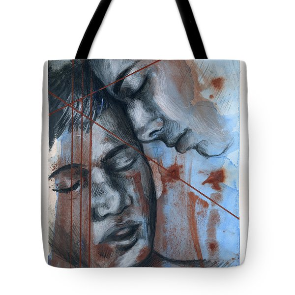 Tote Bag featuring the painting Broken Languages by Rene Capone