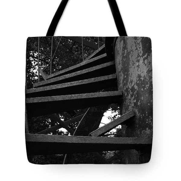 Broken Stairs Tote Bag by Jennifer Ancker