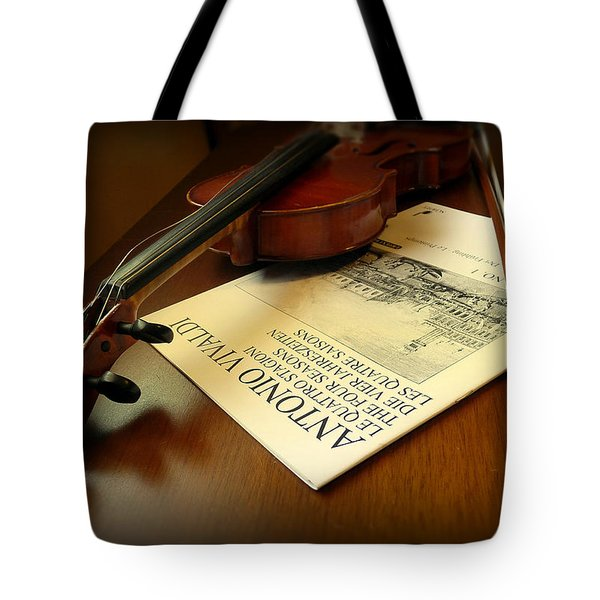 Tote Bag featuring the photograph Broken String by Lucinda Walter