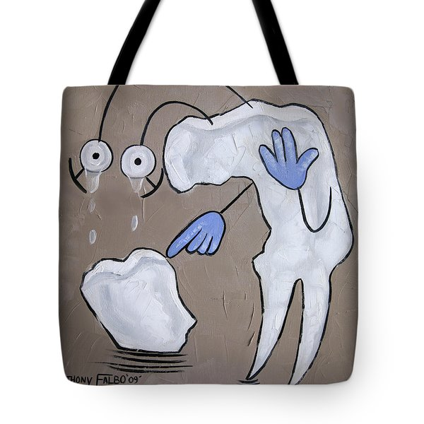Broken Tooth Tote Bag by Anthony Falbo