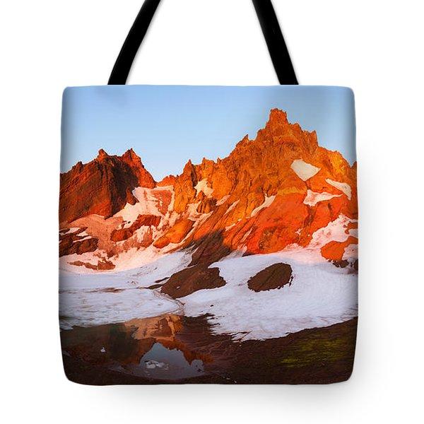 Broken Top Mt. Sunrise Tote Bag