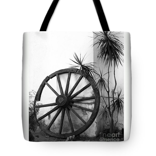 Broken Wheel Tote Bag
