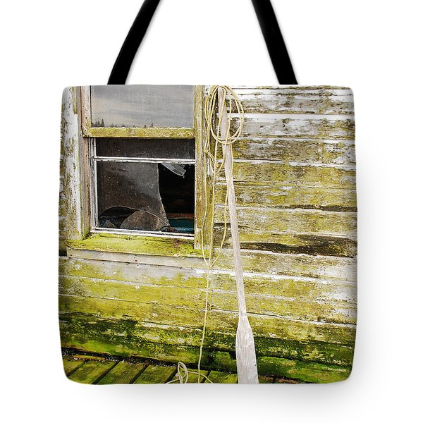 Tote Bag featuring the photograph Broken Window by Mary Carol Story
