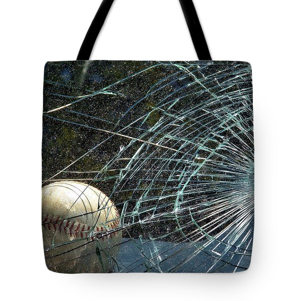 Tote Bag featuring the photograph Broken Window by Robyn King