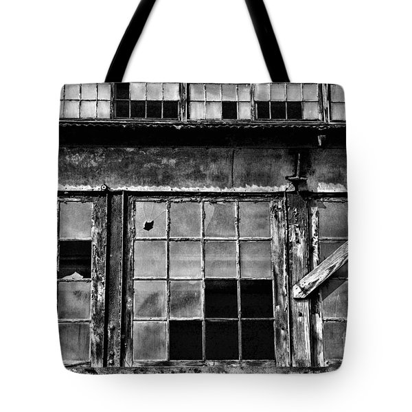Broken Windows In Black And White Tote Bag by Paul Ward