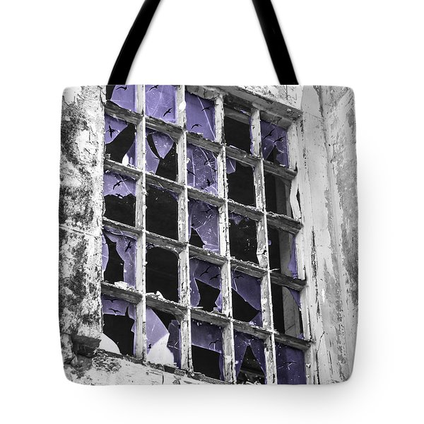 Broken Windows With Birds Tote Bag