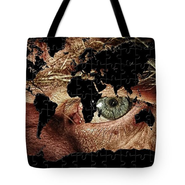 Broken World Puzzle Tote Bag