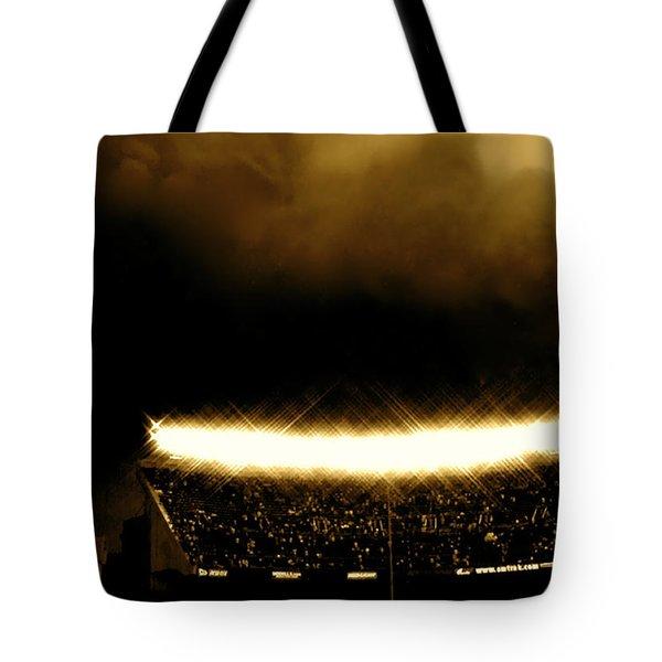 Bronx Storm Yankee Stadium  Tote Bag