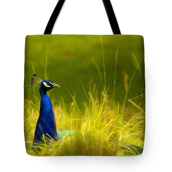 Bronx Zoo Peacock Tote Bag