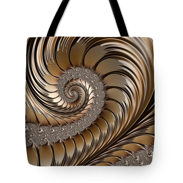 Bronze Scrolls Abstract Tote Bag