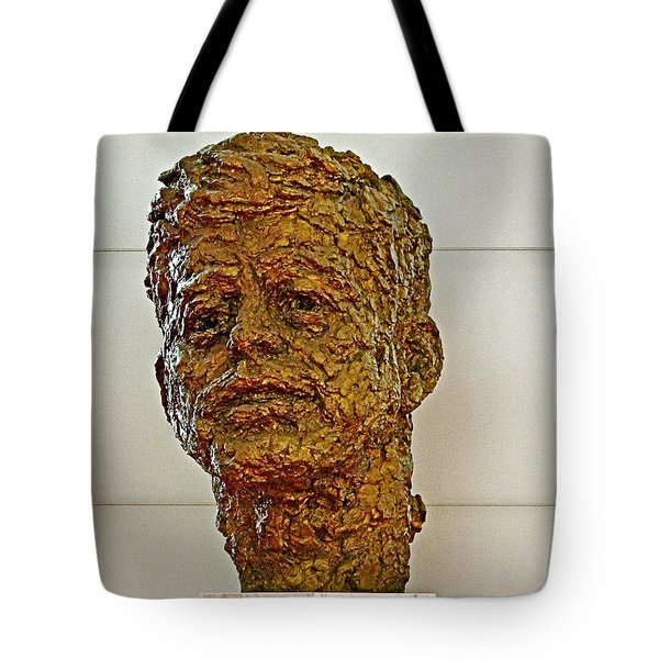 Bronze Sculpture Of President Kennedy In The Kennedy Center In Washington D C  Tote Bag by Ruth Hager