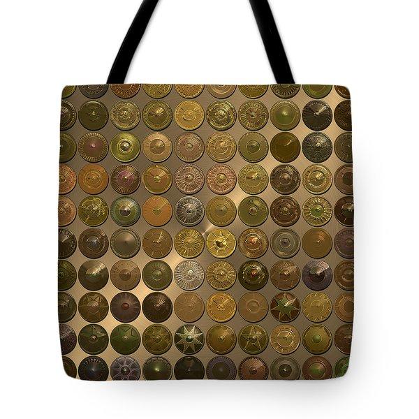Bronzed Hubcaps Tote Bag