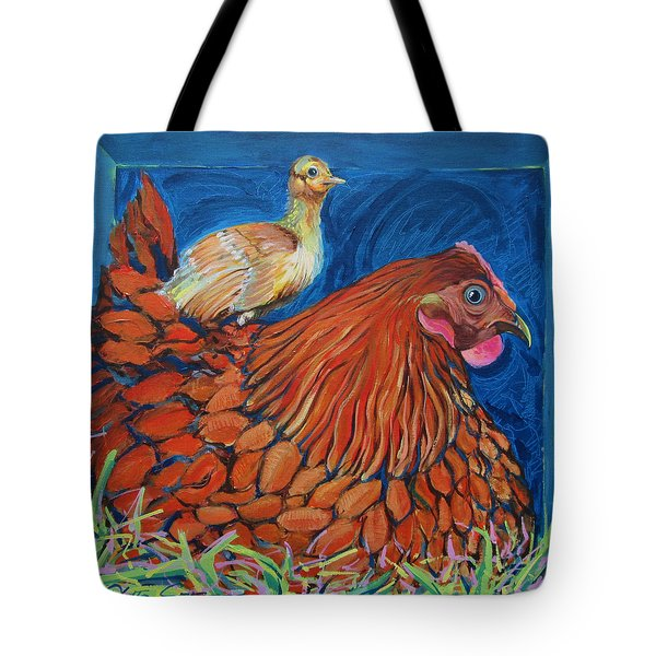 Broody Beverly And Peachick Tote Bag