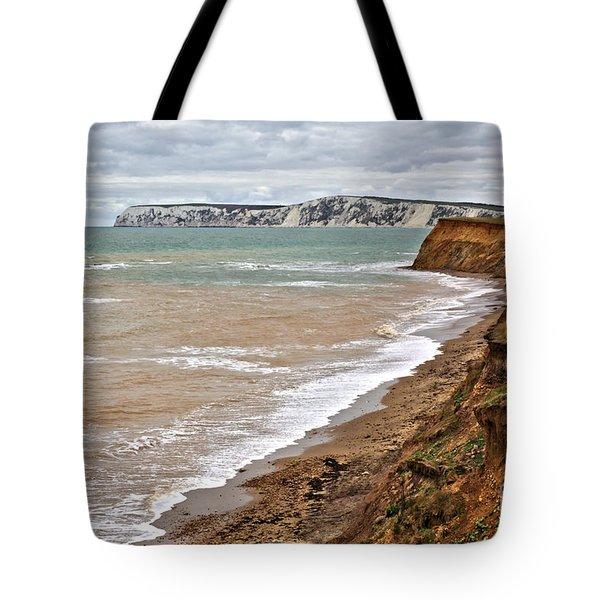 Brook Bay And Chalk Cliffs Tote Bag