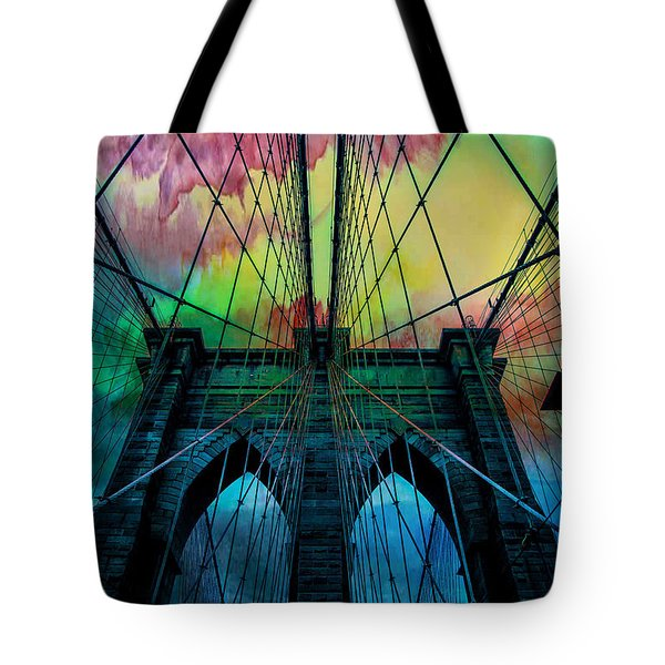 Psychedelic Skies Tote Bag by Az Jackson