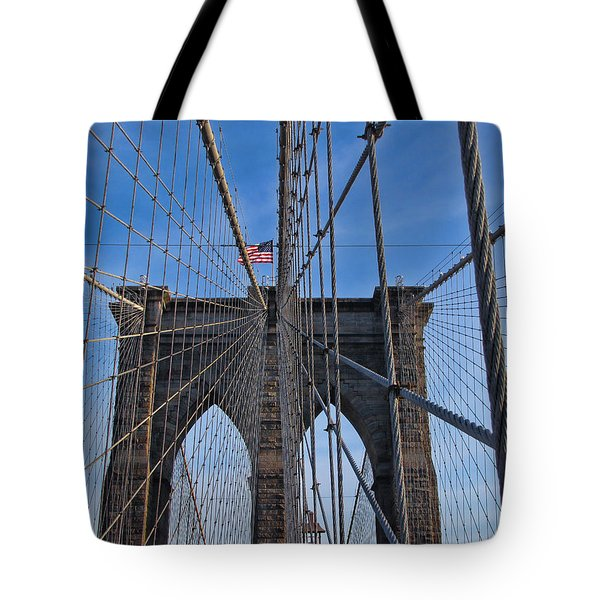 Tote Bag featuring the photograph Brooklyn Bridge by David Gleeson