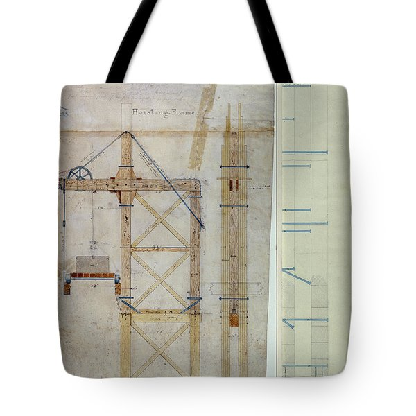 Brooklyn Bridge: Diagram Tote Bag by Granger
