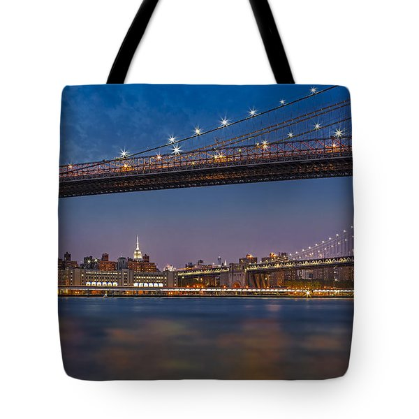 Brooklyn Bridge Frames Manhattan Tote Bag