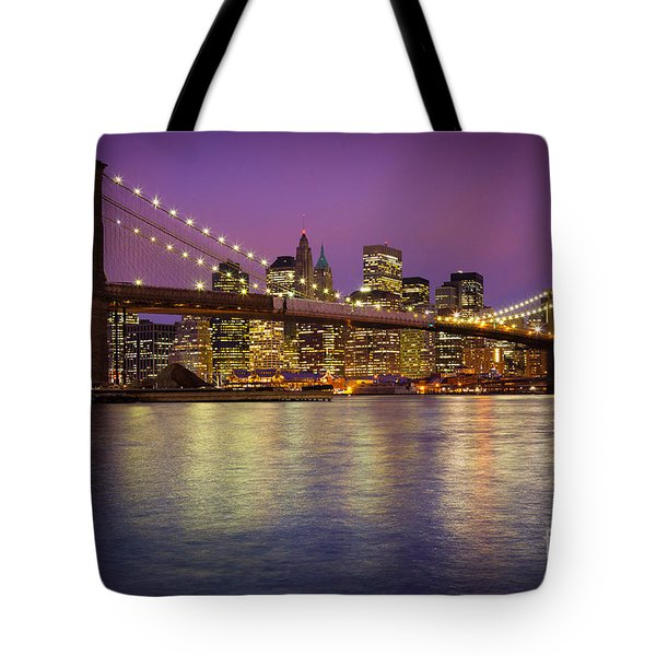 Brooklyn Bridge Tote Bag by Inge Johnsson