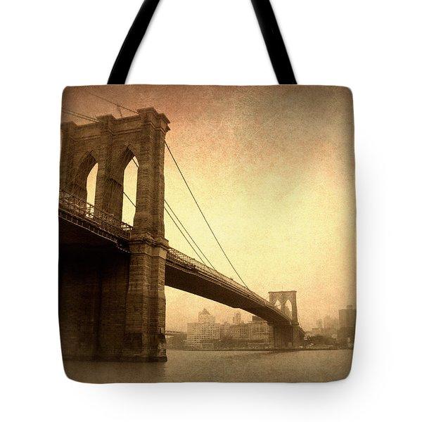 Brooklyn Bridge Nostalgia II Tote Bag