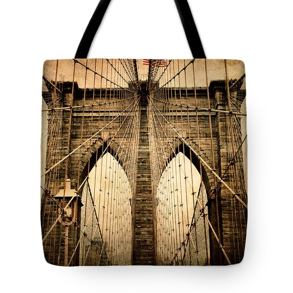 Brooklyn Bridge Nostalgia Tote Bag by Jessica Jenney