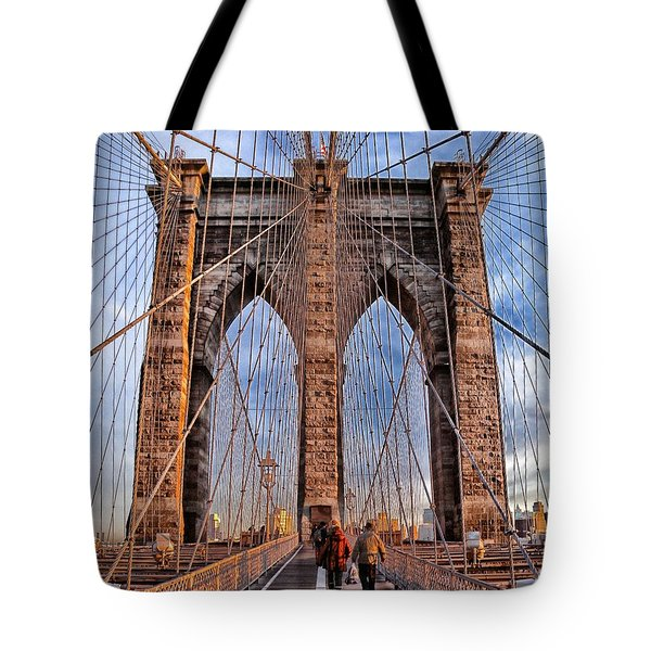 Tote Bag featuring the photograph Brooklyn Bridge by Paul Fearn