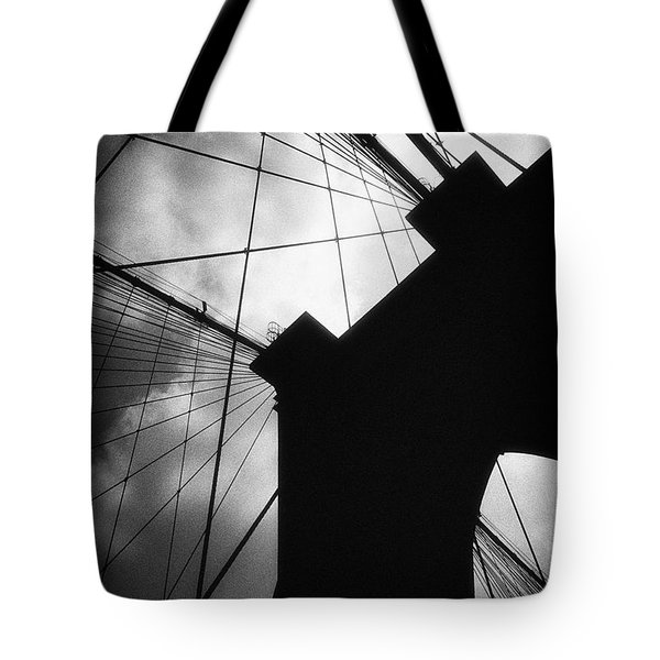 Brooklyn Bridge Silhouette Tote Bag