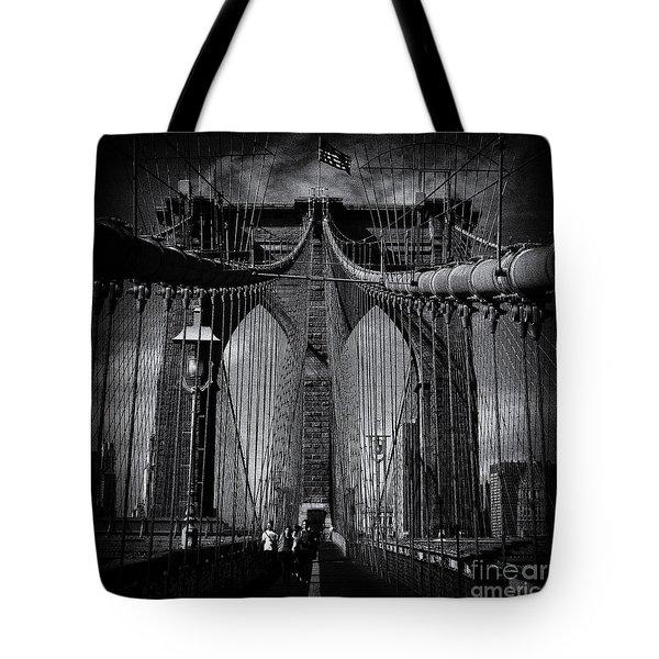 Brooklyn Bridge Up Close New York City Tote Bag