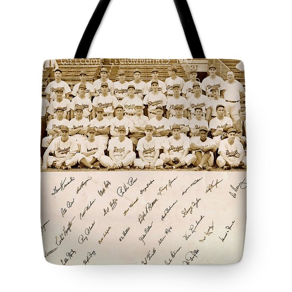 Brooklyn Dodgers Baseball Team Tote Bag