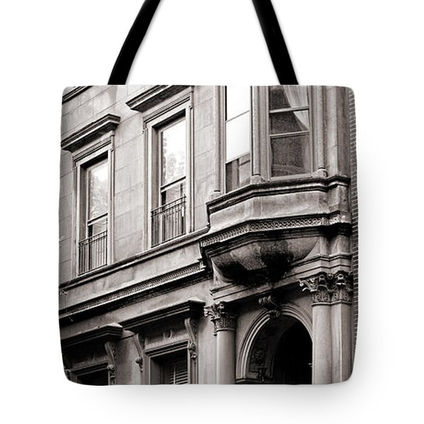 Brooklyn Heights -  N Y C - Classic Building And Bike Tote Bag