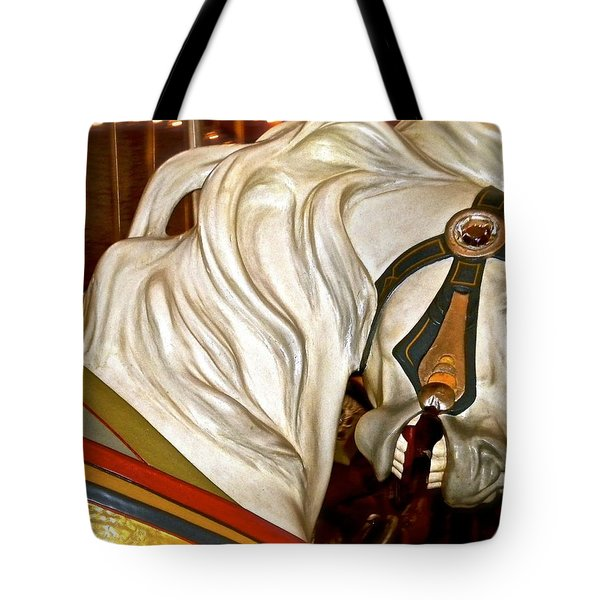 Tote Bag featuring the photograph Brooklyn Hobby Horse by Joan Reese