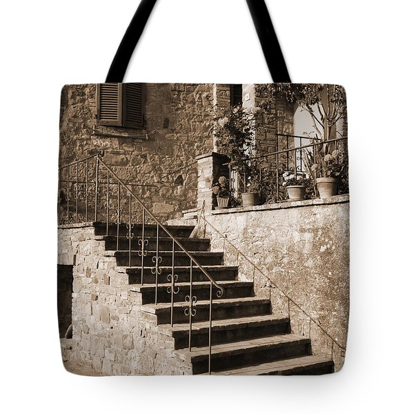 Broom On The Stairs Tote Bag
