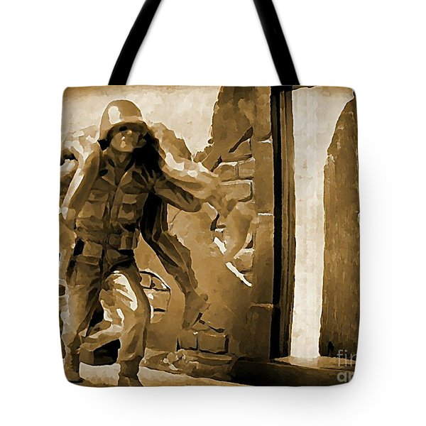 Brothers In Arms Tote Bag by John Malone