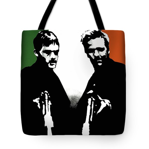 Tote Bag featuring the painting Brothers Killers And Saints by Dale Loos Jr