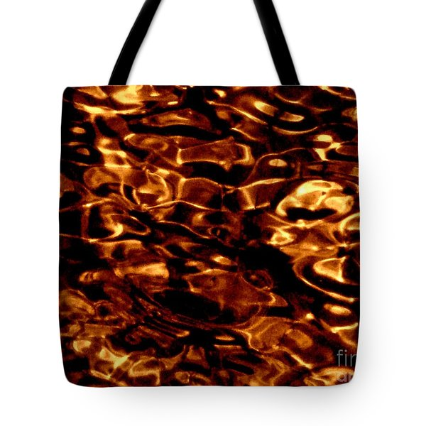 Brown Abstract Plants Tote Bag