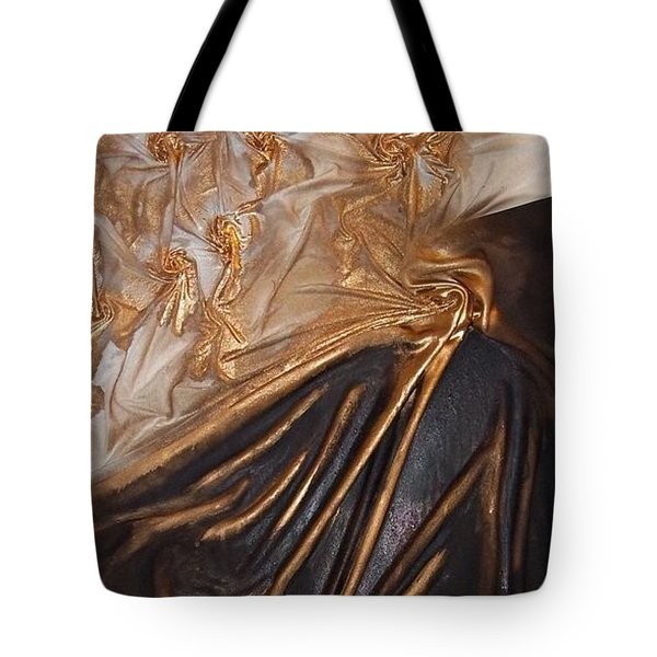 Brown And Gold Tote Bag